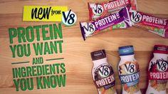 New V8 Protein shakes + Bars!