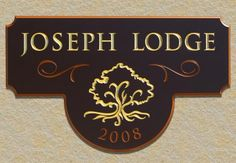 Joseph Lodge Sign / Danthonia Designs