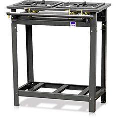 Fogão Industrial de Piso 1 Boca e 1 Boca Dupla c/ Porta Panela - Tron