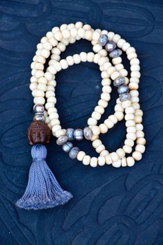 Boho Long White Bone