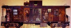 """Historia En El Cabus 2013- 14  Giclee laid over Aluminum  Ed. 30;  127 cm x 314 cm   50"""" x 124"""" x 0.25"""" Available for sale"""