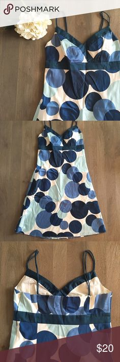 Ann Taylor dress Worn once, 100% cotton, 100% full cotton lining, double spaghetti strap Ann Taylor Dresses