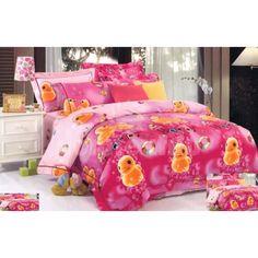 Obliečka na posteľ s detským motívom kuriatka