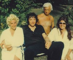 Elvis Presley, centre, with Dr Nick George Nichopoulos and friends shortly before his death.