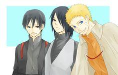 Sai, Sasuke & Naruto - Naruto Shippuden