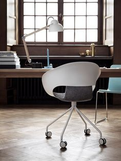 Deli armchair with frame on wheels. Design Thomas Pedersen. #skandiform #deli