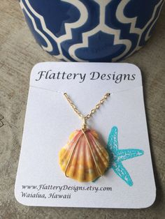 Hawaiian Sunrise Shell Necklace  by FlatteryDesigns on Etsy