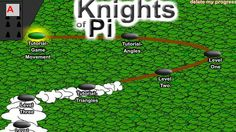Knights of Pi- In this interactive, practice classifying angles, finding angle measurements of triangles, and calculating the radius and diameter of circles as you explore a kingdom filled with knights, dragons, castles, and fireballs. In the accompanying classroom activity, students follow up with additional practice problems.