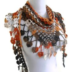 Ganchillo bufanda de encaje de bambú accesorios de por likeknitting