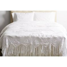 Check out this item at One Kings Lane! Hammock Duvet Cover, White