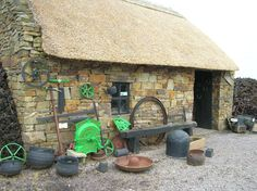 Lovely Thatch Roof   Ireland Metallic Photograph by SalesByAshley, $9.50