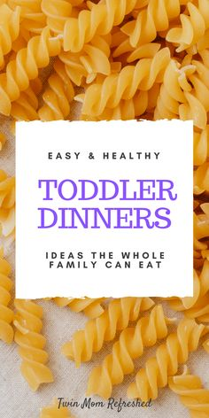 Easy Dinners For Kids, Healthy Toddler Meals, Toddler Lunches, Easy Family Meals, Kids Meals, Toddler Food, Toddler Dinners, Toddler Twins, Twin Toddlers