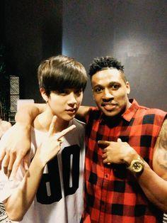 Jin and Tony Jones Jimin, Bts Jin, Bts Bangtan Boy, Bts Boys, K Pop, Bts American Hustle Life, Seokjin, Bts Predebut, Bts Rap Monster