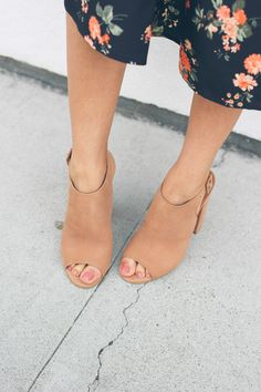 blush peep toe mules, 5 must have shoes for spring, mules