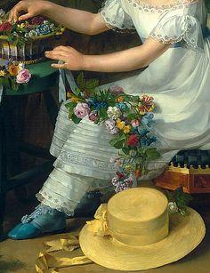 Portrait of Emilie (detail), François-Guillaume Ménageot, 19C