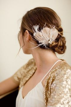 5 Different DIY Feather Hair Accessories - Glam Bistro