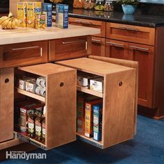 diy organizing kitchen cabinets | Build Organized Lower Cabinet Rollouts for Increased Kitchen Storage ...