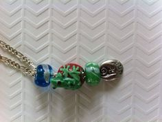 Green and red lamp work frog pendant Charmed, Jewellery, Chain, Pendant, Bracelets, Green, Silver, Bangles, Jewelery
