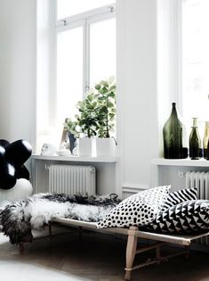 Fensterbank Dekoration Pflanzen Schlafzimmer Muster