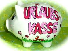 Geldgeschenke - Sparschwein XL Nr. 127 Urlaubskasse - ein Designerstück von MM-Bastelparadies bei DaWanda Piggy Bank, Etsy, Cash Register, Wrapping Gifts, Wedding, Crafting, Money Box, Money Bank, Savings Jar