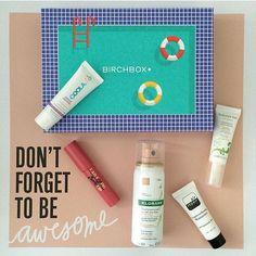 #Repost @sam_lipstick_junkiex  Birch box came today! #birchbox #beautybox #beautysubscription #augustbirchbox #augustbox #glambag #samples #cosmetics #makeupaddict #summer @birchbox  #airrepair