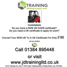 Hold a NON UK forklift certificate? goto http://ift.tt/1HvuLik #jobsearch #training #offers #jobs #forklift