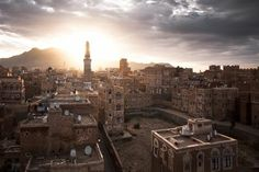 Sana'a skyline Photo by Peter Franc -- National Geographic Your Shot