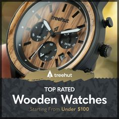 """Custom wooden watches crafted from top quality materials. Shop designs starting from under $100. """"One touch of nature makes the whole world kin."""" - William Shakespeare. Casual Watches, Men's Watches, Marble Watch, Avon Ideas, Best Looking Watches, Wooden Products, Wooden Watches For Men, Titanium Watches, Gothic Bedroom"""