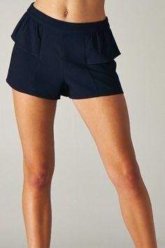 AngelSpace Womens Girls Middle Waist Fashion Elastic Waist Simple Short Pants