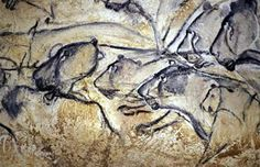 The Chauvet Cave, southern France (28,000-30,000 B.C.) The cave contains fossilized remains of extinct animals as well as human and animal footprints. The paintings, which there are very may of, are still in surprisingly good condition