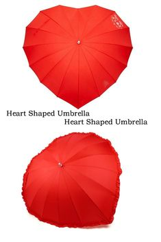 You'll want it to rain when you have this super heart-shaped umbrella for your very own. Makes rain a 'romantic experience'.  The super heart-shaped umbrella has 16 lines, is 88 cm tall and the frame is made of fiberglass.  Umbrella is windproof, so heavy wind is no problem.  Great gift idea for Valentine's Day. Cool Pins, Heart Shapes, Great Gifts, Rain, Valentines, Romantic, How To Make, Valentine's Day Diy, Velentine Day