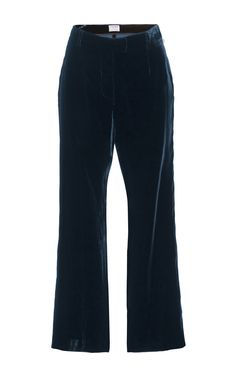 These velvet **Frame Denim** pants feature a soft construction and vintage calf length flare. Cropped Flare Pants, Frame Denim, Denim Pants, New Woman, Denim Fashion, Bell Bottom Jeans, Cotton, Clothes, Collection