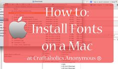 A quick tutorial on how to install fonts on a Mac computer.