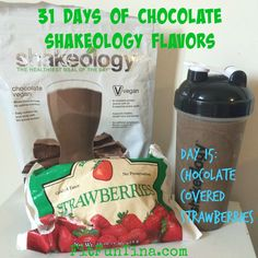 Strawberry Shakeology Recipes, Shakeology Flavors, Vegan Chocolate Shakeology, Shakeology Shakes, Vegan Shakeology, Protein Shake Recipes, Smoothie Recipes, Protein Shakes, Protein Smoothies