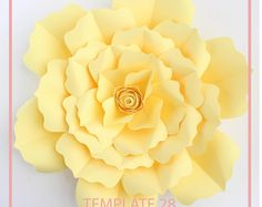 PDF Paper Flower, Paper Flower Template, Big Paper Flower, Giant Paper Flower Template, Flower Template, DIY, Base and Instruction Including