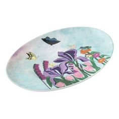 Garden of Heavenly Delights Porcelain Serving Platter - home gifts ideas decor special unique custom individual customized individualized
