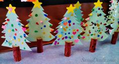 DIY Toilet Paper Roll Christmas Tree Craft For Kids #Christmas craft for kids | CraftyMorning.com