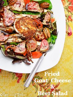 Fried Goat Cheese & Grilled Beet Salad recipe makes great side dish or ...