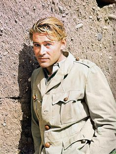 T.E. Lawrence must be the strangest hero ever to stand at the center of an epic. To play him, Lean cast one of the strangest of actors, Peter O'Toole, a lanky, almost clumsy man with a beautiful sculptured face and a speaking manner that hesitates between amusement and insolence.