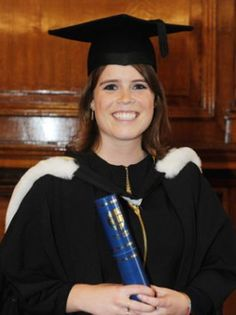 Princess Eugenie of York, graduated from Newcastle University on 11 July earning a in her combined English Literature-History of Art degree. Her father, the Duke of York, was in attendance. Duchess Of York, Duke Of York, Duke And Duchess, Duchess Kate, Princess Eugenie And Beatrice, Graduation Cap And Gown, Happy Birthday Princess, Newcastle University, Eugenie Of York