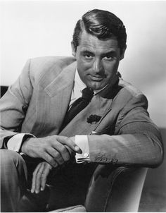 Cary Grant oversize gallery portrait by Ernest A. Bachrach. Silver bromide matte 11 x 14 in. double-weight master print of Cary Grant (ca. 1946, likely for Notorious), from the personal collection of the photographer, and with his embossed blindstamp at lower right.