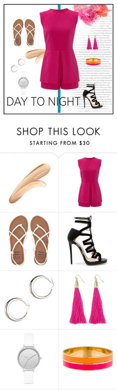 """""""Untitled #4807"""" by patricia-dimmick on Polyvore featuring tarte, Laundry by Shelli Segal, Billabong, Jimmy Choo, Skagen, Kate Spade, DayToNight, summerstyle and romper"""