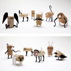 The Corkers.  Wine-life of the dinner table!   Design collaboration between Oded Friedland and Reddish Studio, these party animals spark up your dinner and make the best out of your wine corks.    Reddish Studio - Bon Expose | All About Art and Design