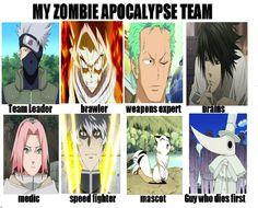 My Anime Zombie Apocalypse Team by ~SparklingCat on deviantART