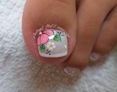 Toe Nail Art, Easy Nail Art, Toe Nails, New Nail Art Design, Toe Nail Designs, Nails Inspiration, Pedicure, Hair And Nails, Nail Polish