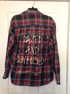 Soft Flannel shirt has been hand-bleached with  Dazed and Confused Soft and comfy!    Best fit Medium-large  Made from a guys x large shirt (runs