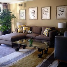 Brown sofa sectional makeover. Check out other sofa makeovers at The Sofa Company. www.thesofaco.com