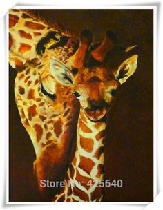 Aliexpress.com : Buy Giraffe Art  24X36 inches Painting Home Decoration Oil painting Wall Pictures for living room Home Decor paints Wall art paint 6 from Reliable pictures of real weddings suppliers on Eazilife Oil Painting  | Alibaba Group