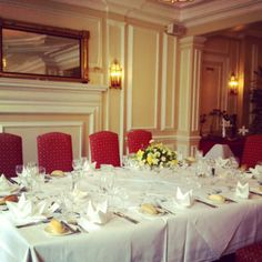 A special birthday lunch in the Woburn Restaurant at the Bedford Hotel, Tavistock