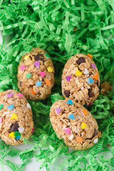 Healthy Oatmeal Peanut Butter EggsAll natural and healthy Easter treats! No marshmallows in this sweet treat